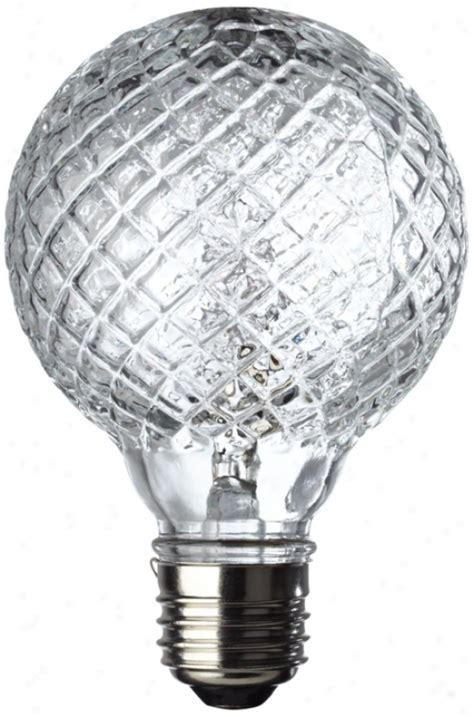 40 watt halogen faceted g25 decorative bulb x6981