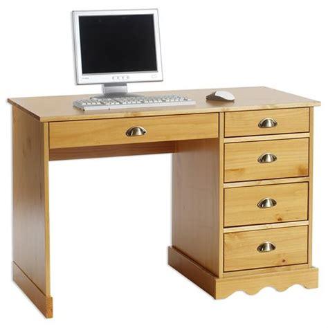 bureau c discount bureau multi rangements tiroirs pin massif lasuré couleur miel