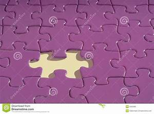 Jigsaw Puzzle With A Piece Missing. Royalty Free Stock ...