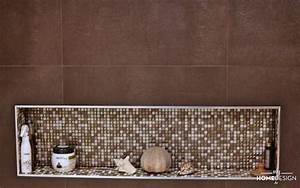 awesome niche dans salle de bains pictures awesome With salle de bain design avec décoration murale stickers