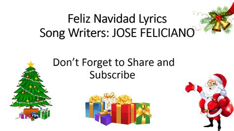 jose feliciano feliz navidad lyrics youtube feliz navidad lyrics jose feliciano hq song youtube