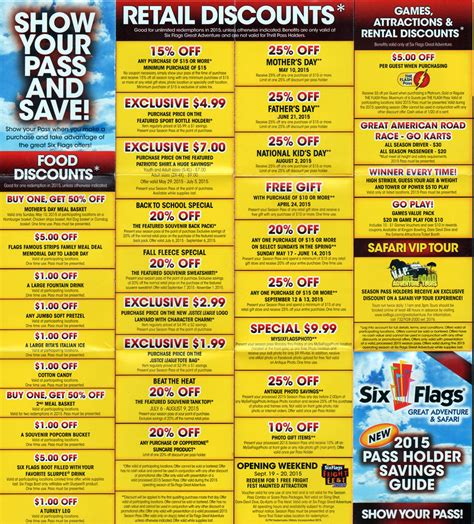 19928 Six Flags Tickets Coupons Discounts by Coupons For 6 Flags Nj Frys Black Friday Deals