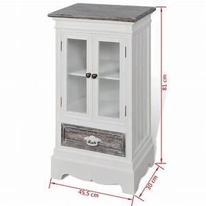 Armoire Bois Blanc : acheter armoire en bois 2 portes 1 tiroir blanc pas cher ~ Teatrodelosmanantiales.com Idées de Décoration