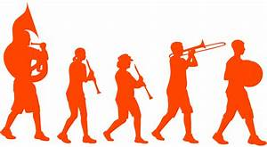 Marching Band Silhouette | Free vector silhouettes