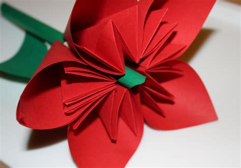 Adventskalender 17türchen  Origami Blume Falten The