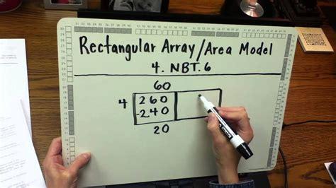 es  math division  area model youtube