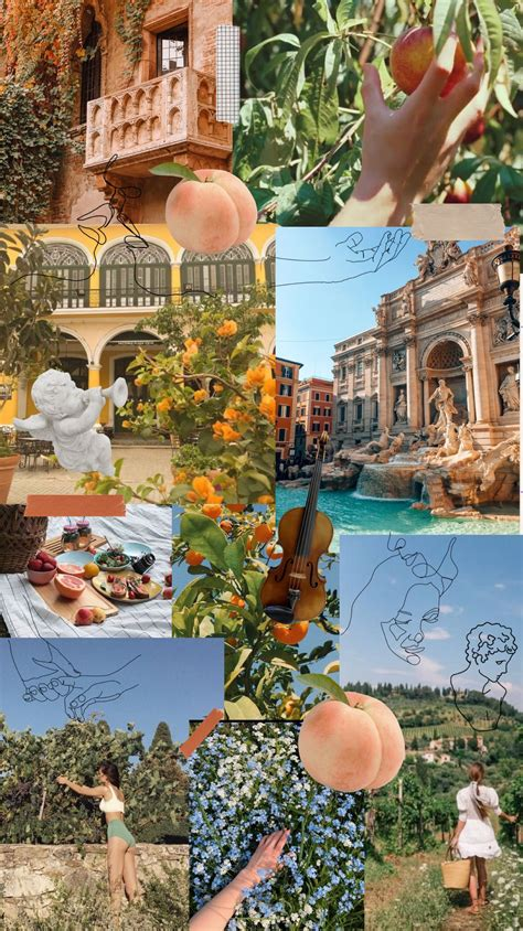 italy collage aesthetic wallpapers italy aesthetic