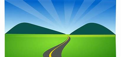 Dirt Road Clipart Country Horizon Countryside Side