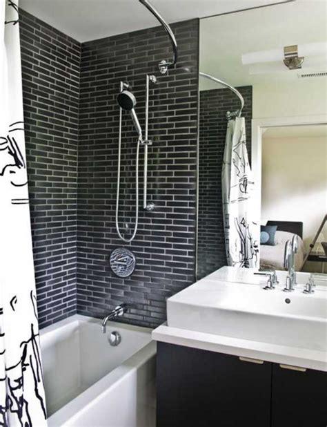 26 Perfect Ways To Use Black Bathroom Tiles In Interior Design