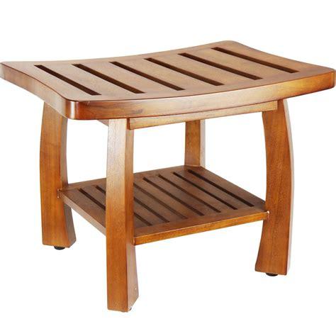 shower bench teak teak wood shower bench in tub caddies and accessories