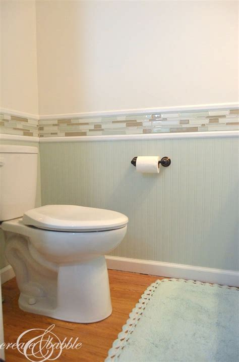 Powder Room Makeover About The Trim  Create And Babble