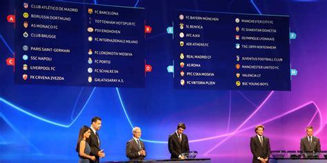 berikut hasil drawing liga champion   uefa