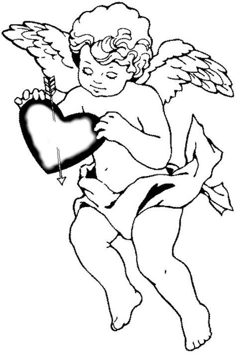 Kleurplaat Cupido by Valentines Cupid Printable Coloring Pages Realistic