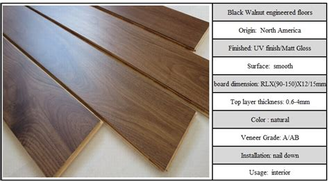 wood flooring dimensions multi layered american walnut engineered hardwood flooring