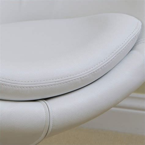 trent home daniel leather egg chair in white 896112cy