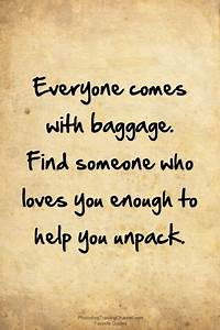 25+ best ideas about Baggage Quote on Pinterest