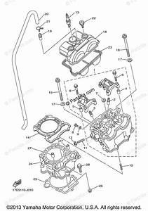 Yamaha Motorcycle 2013 Oem Parts Diagram For Cylinder