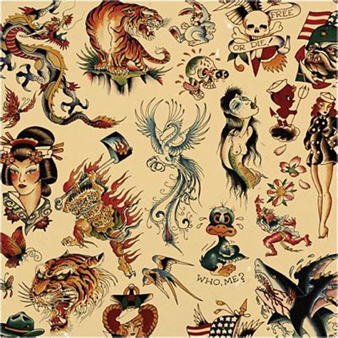 sailor jerry  ed hardy  school vintage tattoo flash