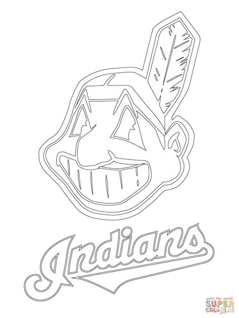 cleveland indians coloring pages coloring home