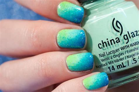 Summer Neon Gradient Nail Art