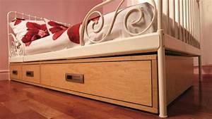 Boite Rangement Sous Lit : chambre du rangement sous le lit r novation bricolage ~ Teatrodelosmanantiales.com Idées de Décoration