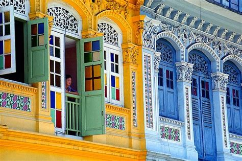 Colorful Colonial colorful colonial buildings in singapore feeling