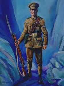 WW1 British Soldier Painting