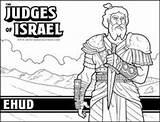 Bible Coloring Judges Judge Israel Ehud Sunday Sheet Heroes Crafts Craft Lessons Sheets Deborah Sellfy Bundle Activities Jueces Children Othniel sketch template
