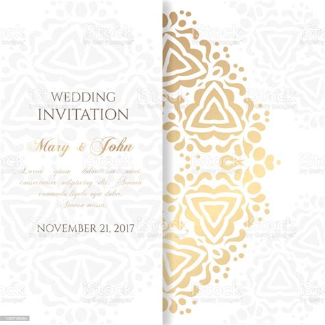 Wedding Invitation Templates Cover Design With Ornaments