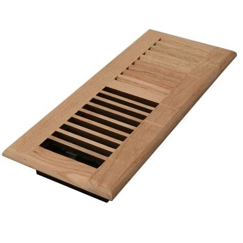 Wooden Floor Registers Home Depot by Zoroufy 4 In X 12 In Wood White Oak Unfinished Flush