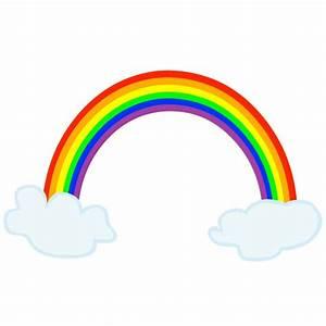 Regenbogen mit 2Wolken Digital Wandtattoo