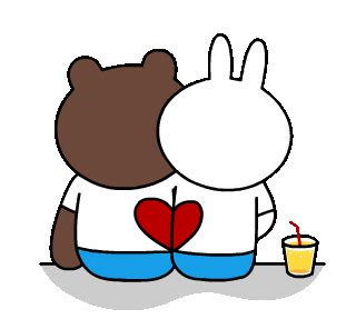brown  conys romantic date  love animated stickers