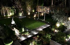 Garden lighting design is arranged like a room of the