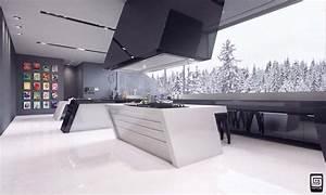 Futuristic kitchen design by M1TOS