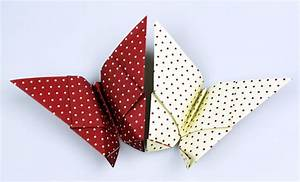 Origami Schmetterling Anleitung : origami schmetterling ~ Frokenaadalensverden.com Haus und Dekorationen