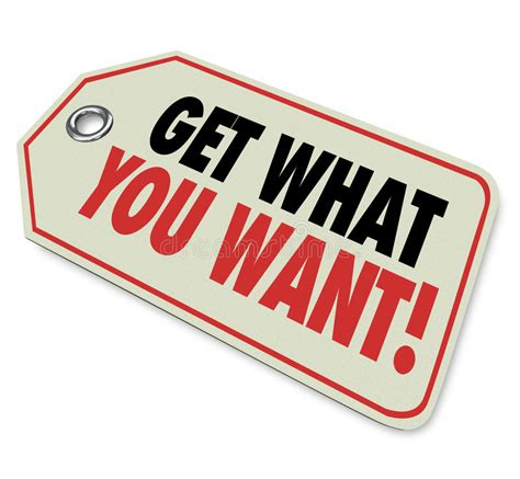 Get What You Want Price Tag Sale Buy Purchase Stock