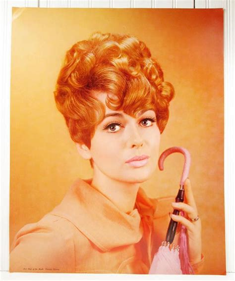 vintage poster beauty shop 1960s hair style of the month retro