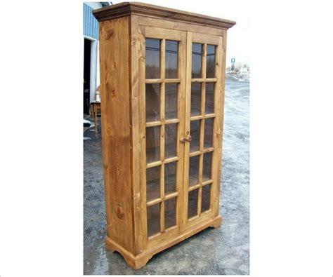 Curio Bookcase by Glass Door Curio Bookcase