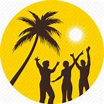 Beach Party Icon Summer Sun Palm Vacation