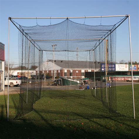 deck batting cages michigan outdoor batting cage for baseball softball on deck sports