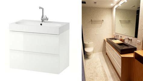 ikea godmorgon vanity bamboo plywood wrapped godmorgon for modern bathroom