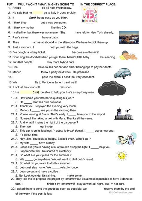 Predictions Will May Might Going To Worksheet  Free Esl Printable Worksheets Made By Teachers