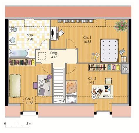 maison 2 chambres plan maison 100m2 etage de 0 avec 3 chambres 224