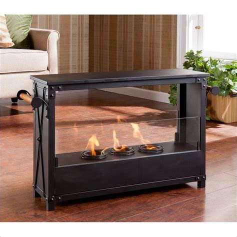portable indoor fireplace layton portable indoor outdoor fireplace in black fa5843
