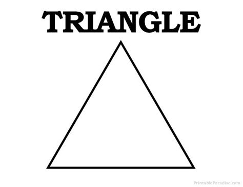triangle template for kid craft 17 best images about printable shapes on pinterest print