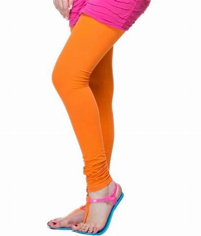 Leggings Cotton Lycra Orange Juliet