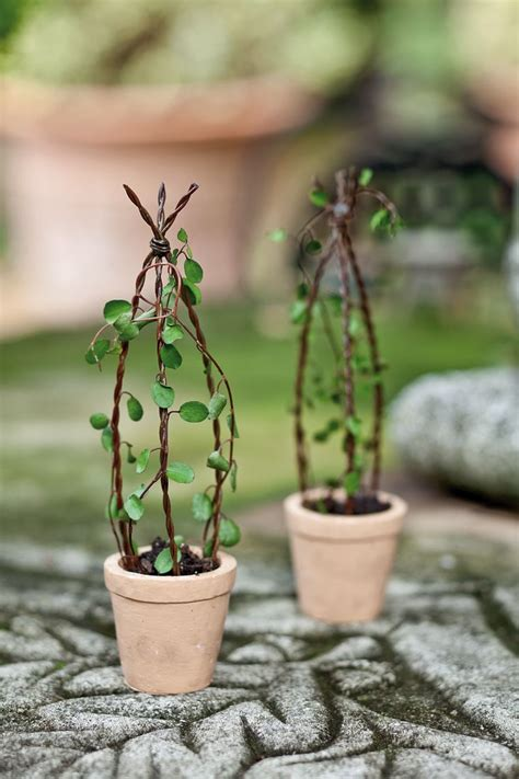 Jeremie  Mini Garden Wire Trellis In A Tiny Pot Mini