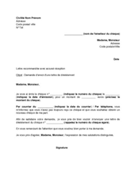 modèle lettre désistement chèque lettre de demande d envoi d une lettre de d 233 sistement d un