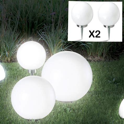 le boule 15 cm led solaire x2 eclairage et d 233 coration ext 233 rieure