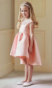 Occasions Pink Satin & Pearls Dress